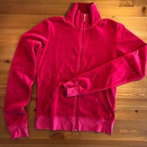 Juicy Couture Pink Velour Track Suit Jacket